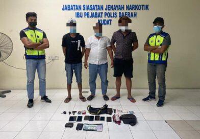 4 lelaki ditangkap salah guna dadah